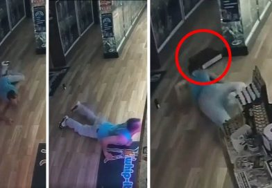 Man Robs a Shop by Slithering Across the Floor to Avoid Motion Detectors
