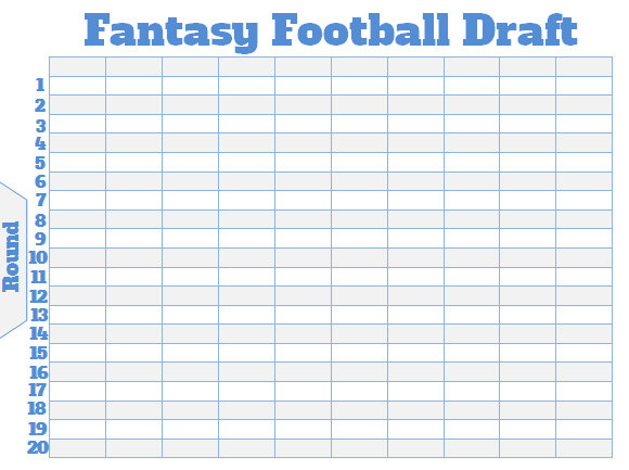 photo regarding Fantasy Football Draft Sheets Printable Blank named Myth soccer draft roster template
