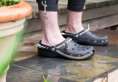Nothing Says COOL Like Studded Goth Crocs